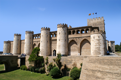 Ancien chateau arabe, l'Aljaferia.